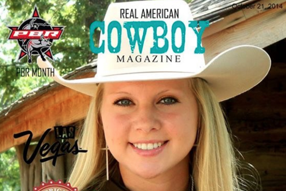Paige Stout for Real American Cowboy Magazine by writer Mary McCashin